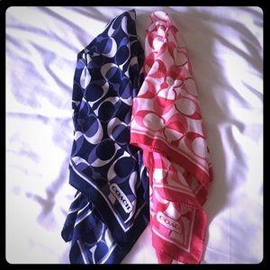 NWOT Bundle Coach square neck scarves.
